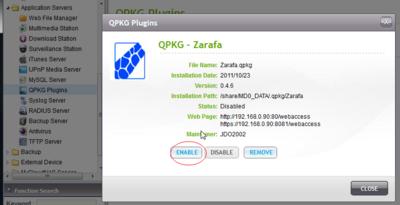 Zarafa Configuration - QNAPedia